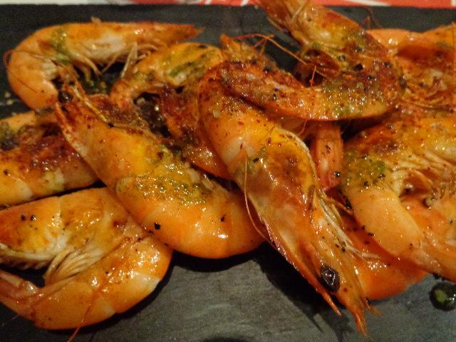 Crevettes à la plancha © GP