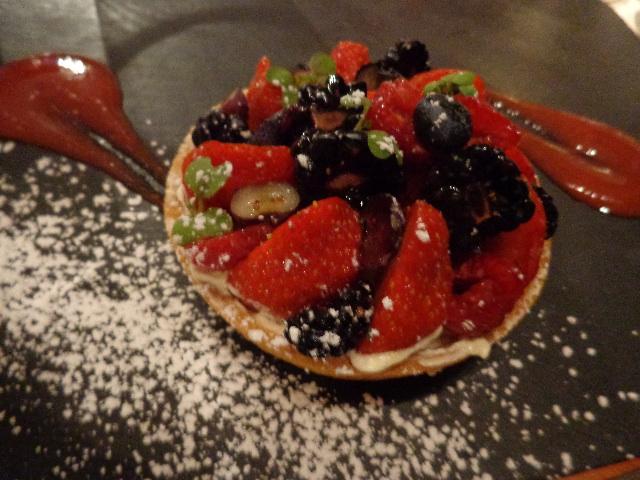 Tarte mousseline aux fruits © GP