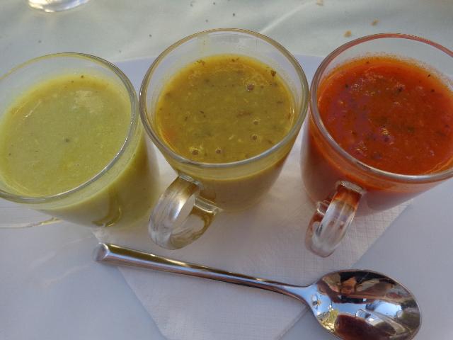 Soupes de topinambour, lentille, tomate © GP