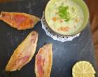 Filets de rouget, bouillon thaï aux petits légumes et ravioles de la Dröme © SK
