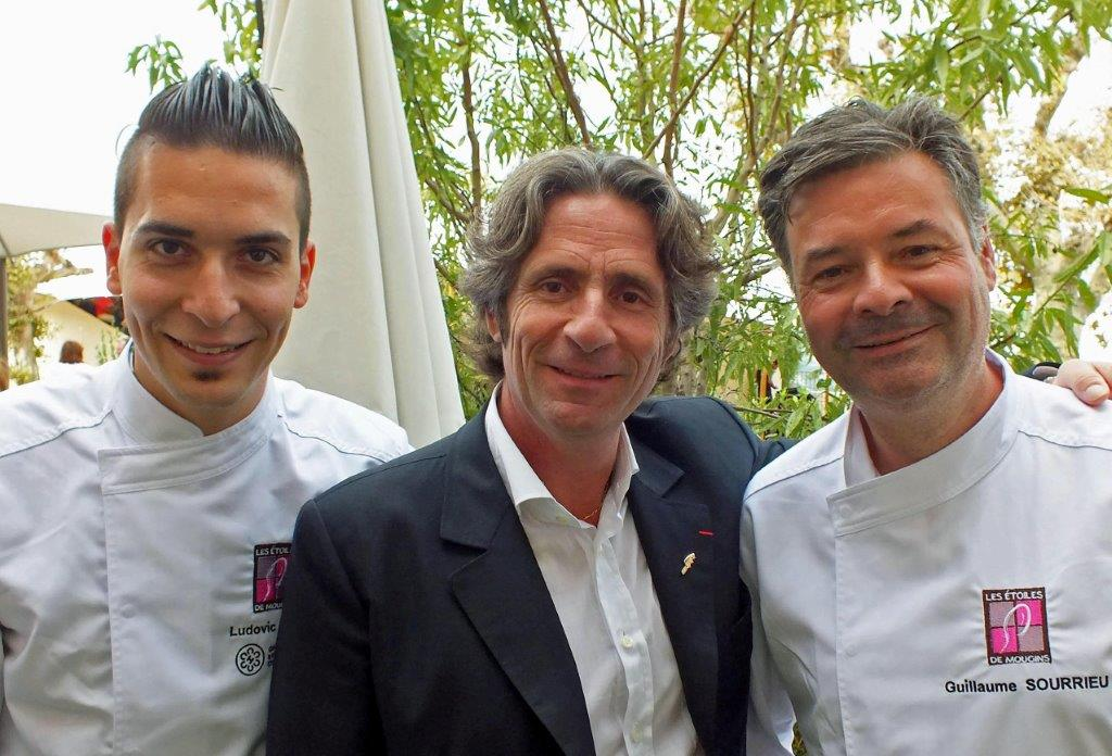 Ludovic Tura( une Table au sud), Gerard Passédat et Guillaume Souriau( l'Epuisette) © AA