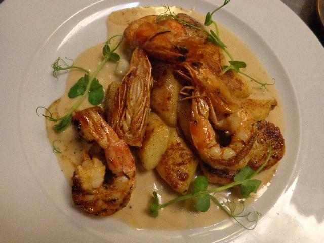 Crevettes et saint-jacques © GP