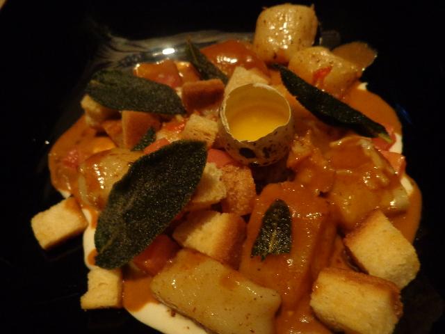 Gnocchi, cèpes et oeuf  ©GP