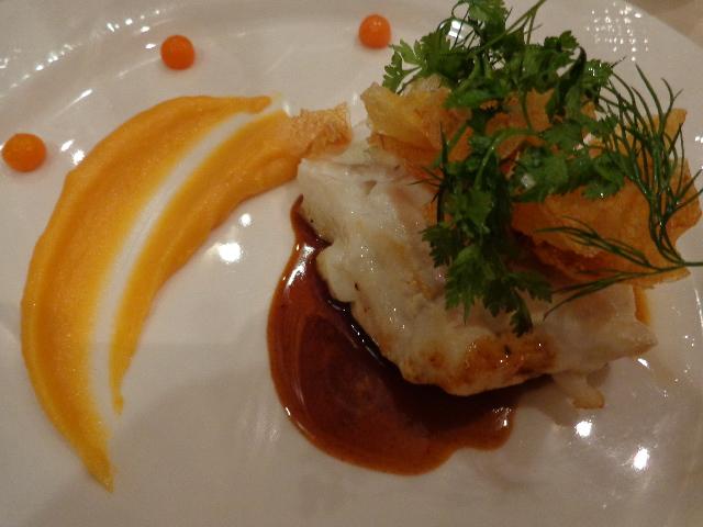 Cabillaud et épinards sauce ravigote © GP