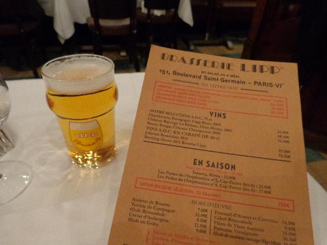 Bière et menu © GP