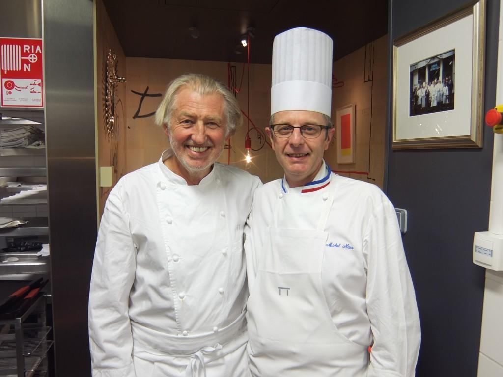Pierre Gagnaire et son chef Michel Nave © GP