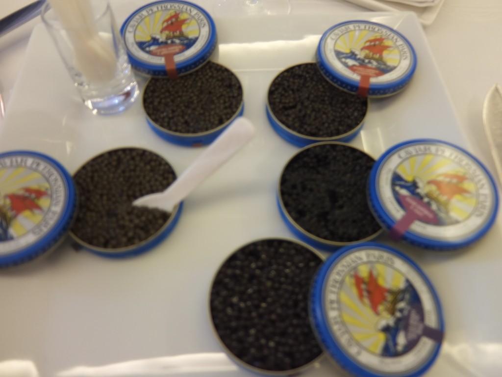 Dégustation des caviars © GP