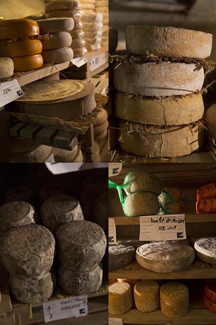 Fromages en cave © Maurice Rougemont