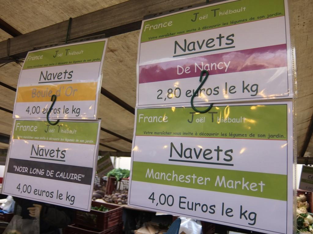 Les diverses variétés de navets © GP