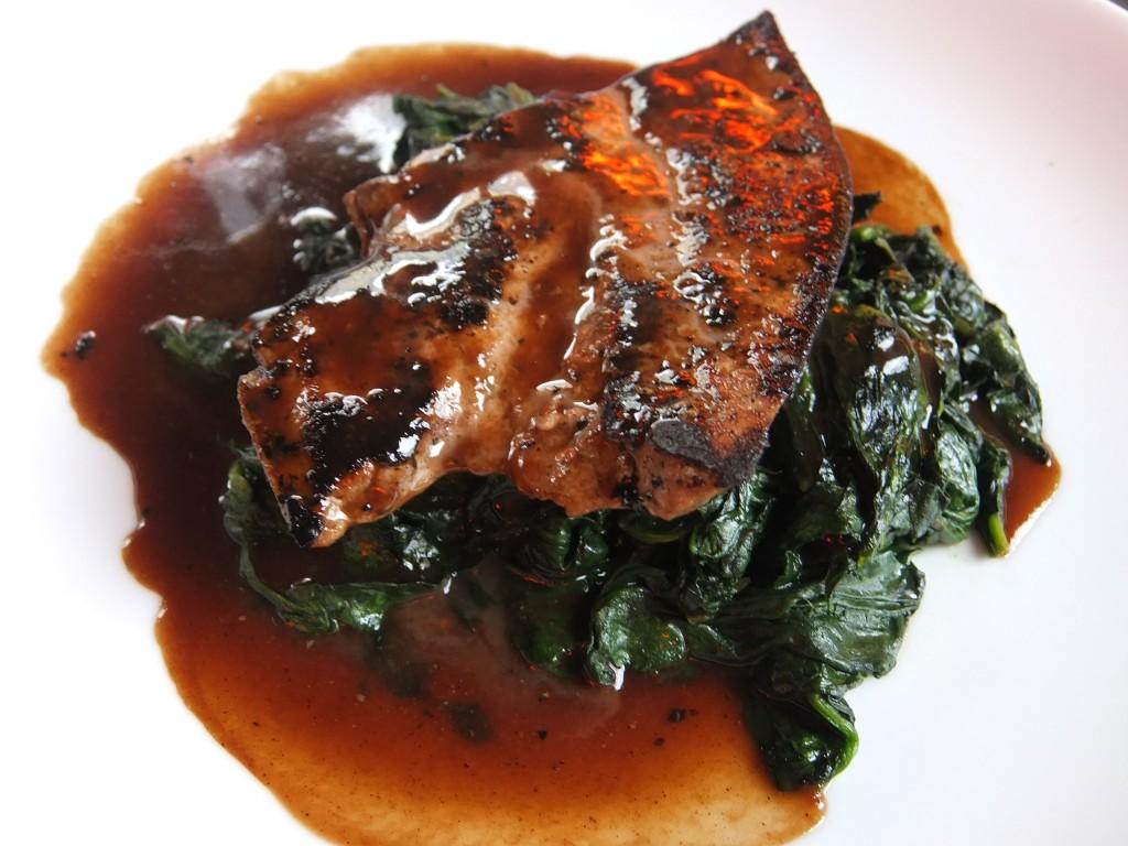 Foie de veau aux épinards © GP