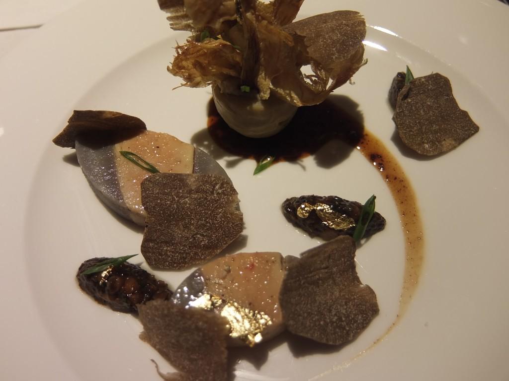 Chartreuse de foie gras et artichaut © GP