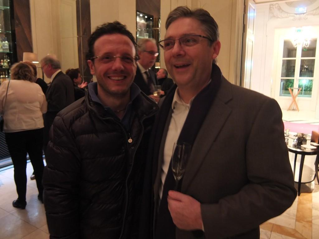 Le chef Simone Zanoni et Massimo Mori © GP
