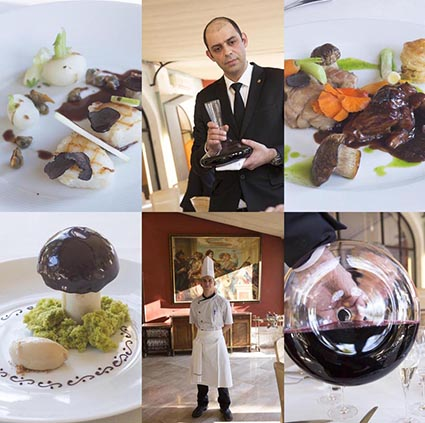 Plats, chef, service © Maurice Rougemont