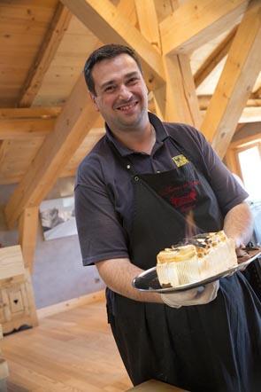 Olivier Bardoux et l'omelette norvégienne © Maurice Rougemont