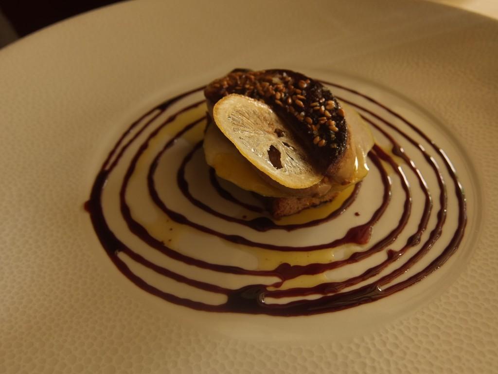 Foie gras chaud au pain d'épices © GP