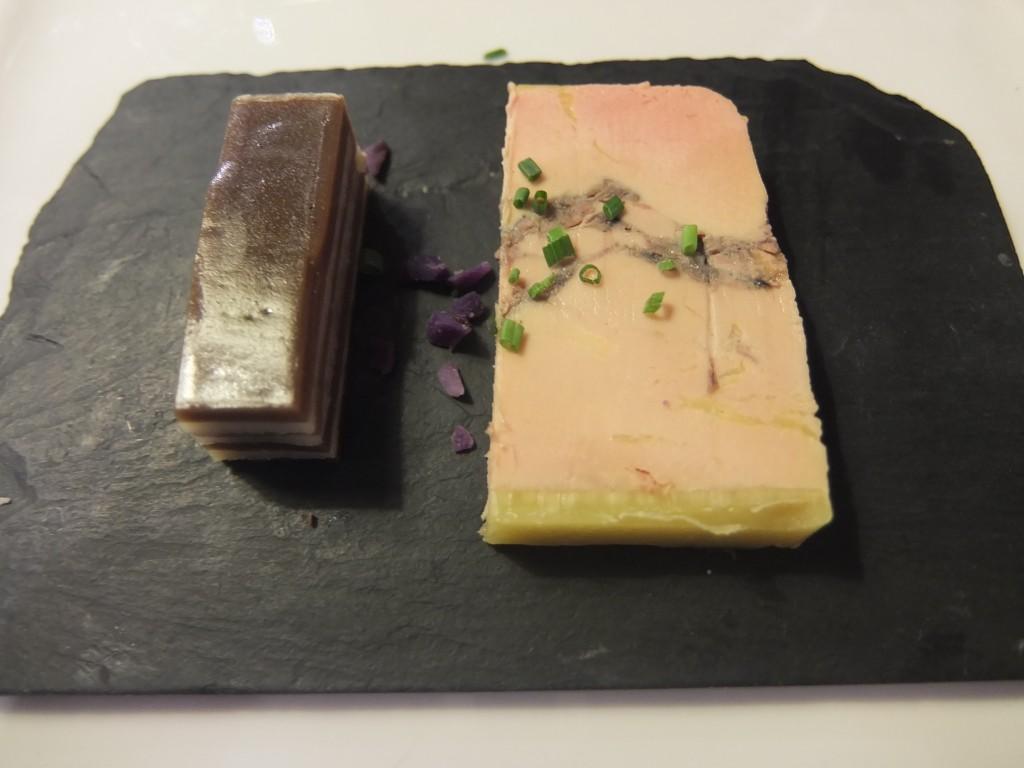 Foie gras et lamproie © GP