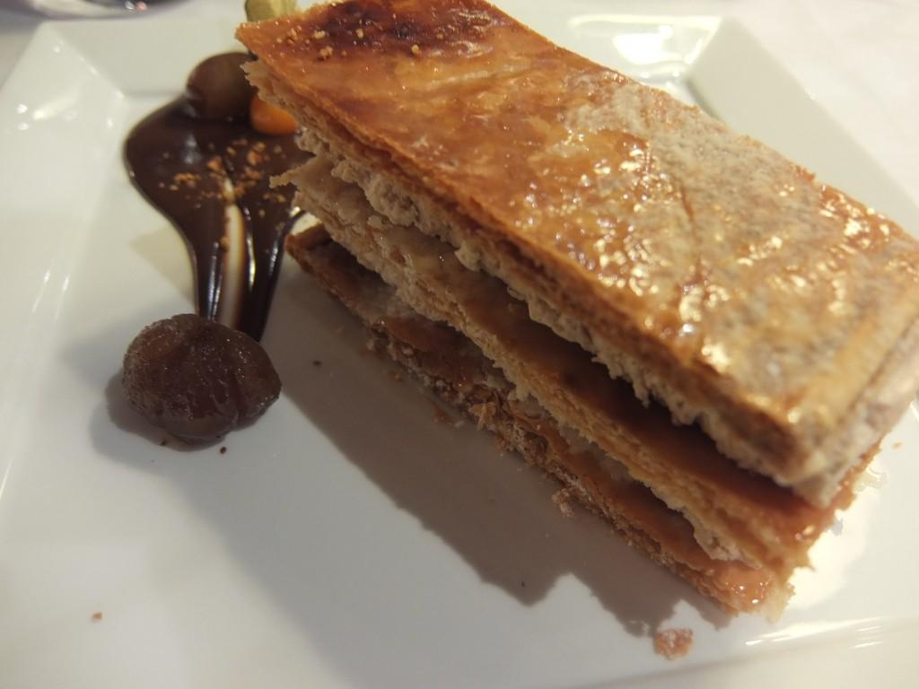 Millefeuille marron et chocolat © GP