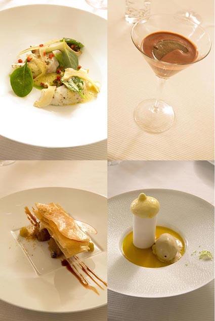 Plats et desserts © Maurice Rougemont