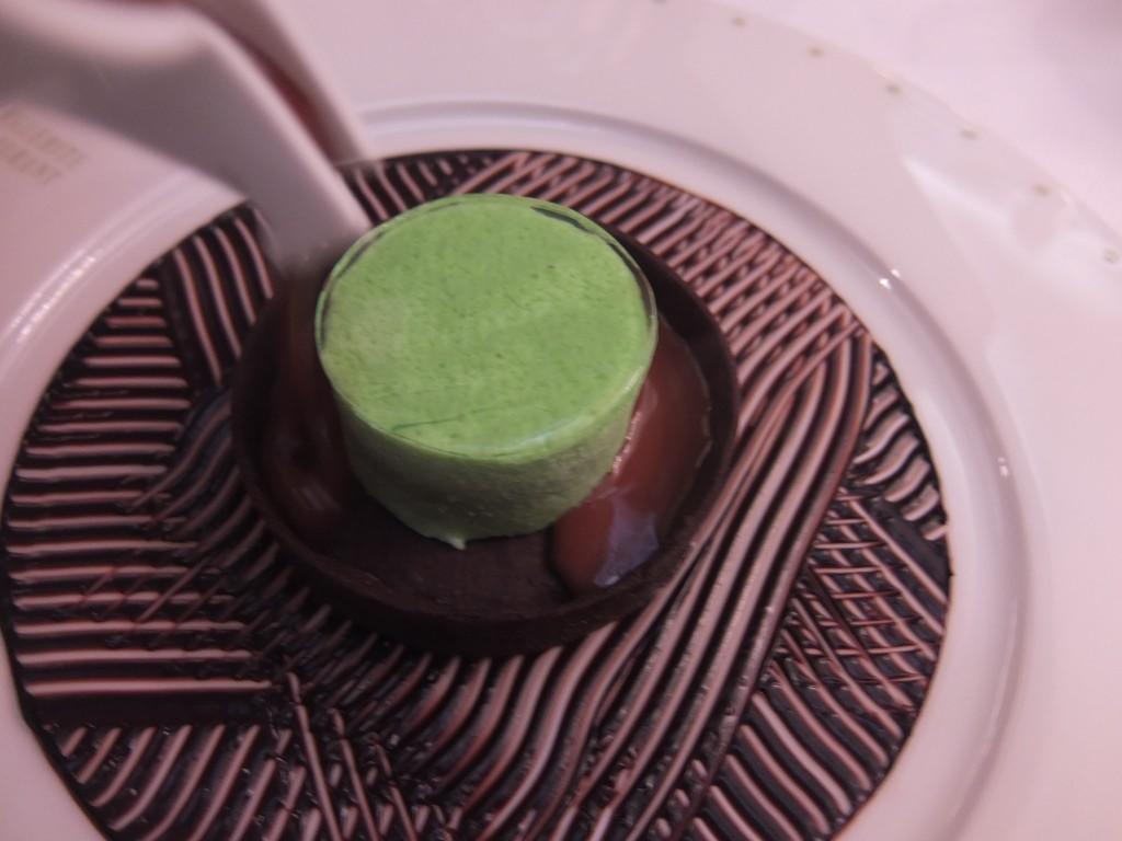 Parfait glacé menthe/chocolat © GP