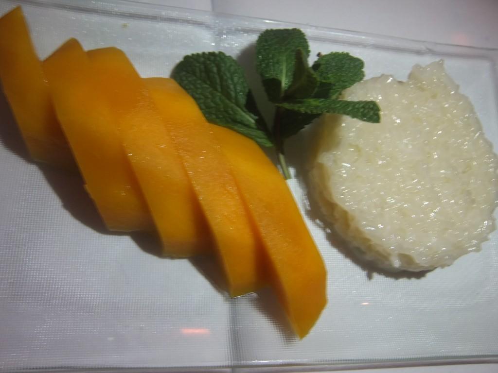 Mangue et riz gluant © GP