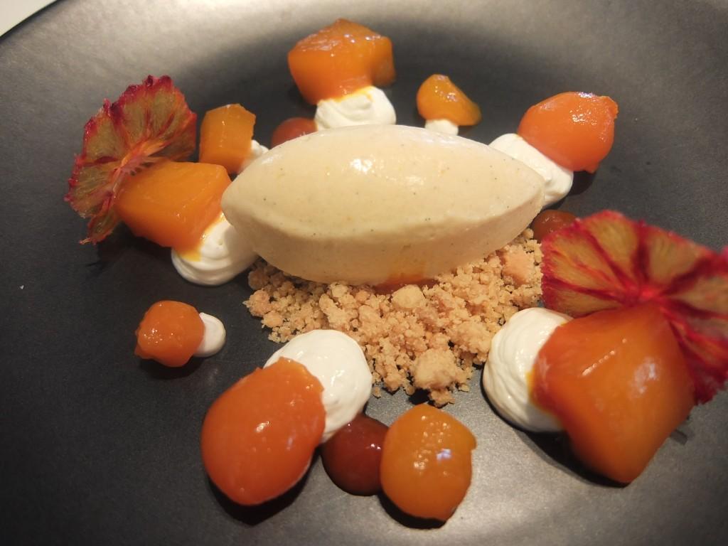Mangue-safran, sorbet à l'orange sanguine © GP