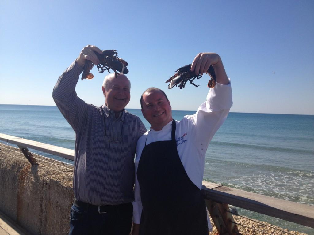 Shalom, Yoram et les homards © GP