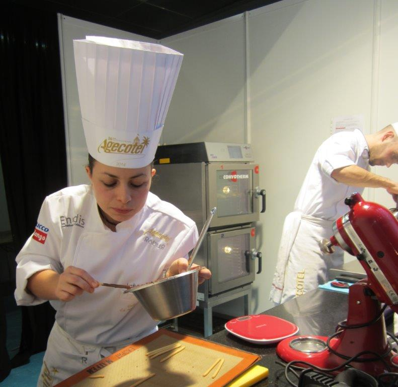 Ludivine Borrelli en pleine action ©AA