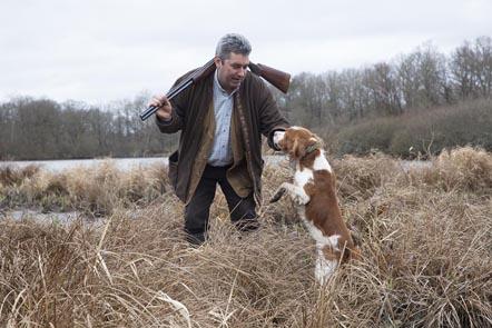 Didier Doreau à la chasse © Maurice Rougemont