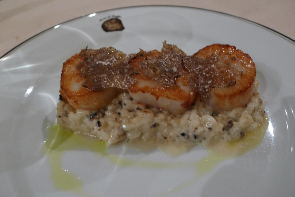 Saint-jacques et risotto © JPE