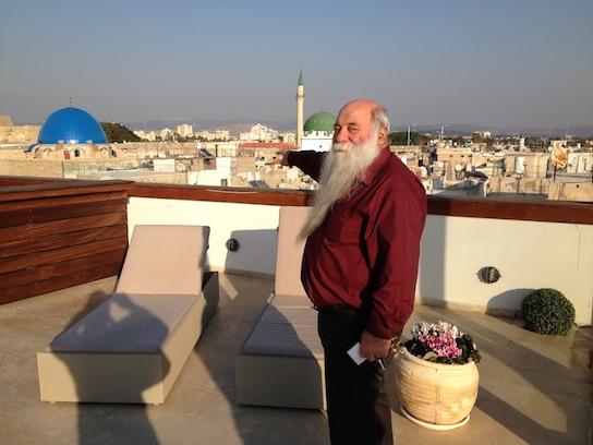 Uri Buri sur la terrasse © GP