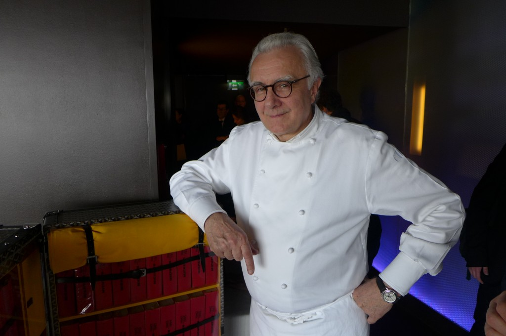 Alain Ducasse et le guide Michelin © GP