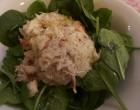 Salade de pousses d'épinards au crabe © GP