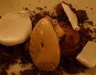 Mousse chocolat, ganache, glace café © GP