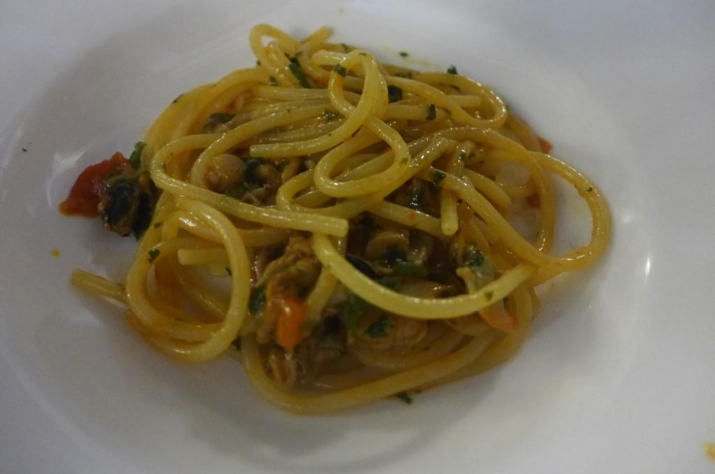 Spaghetti aux légumes pimentés © GP