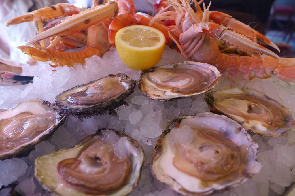 Huîtres et crustacés © GP