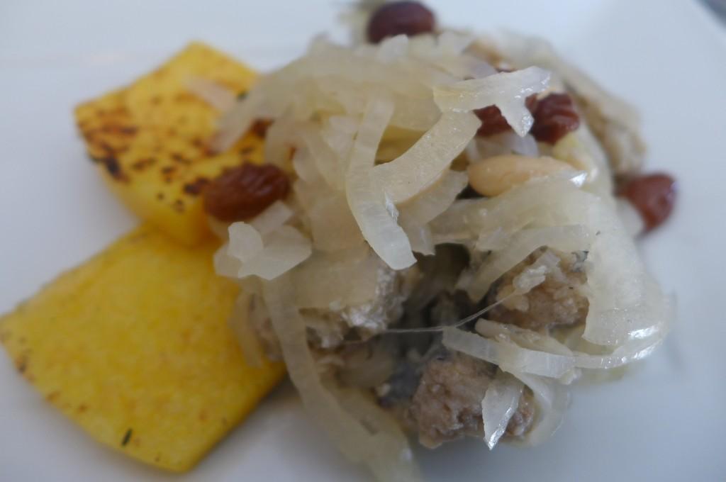 Sardine in saor et polenta © GP