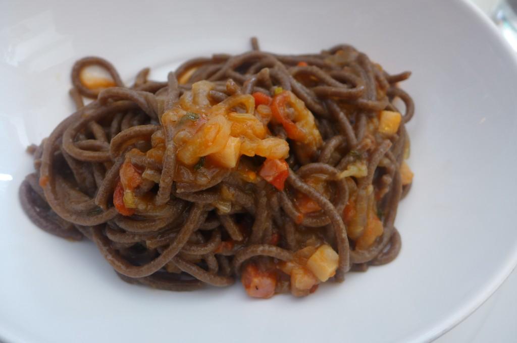 Spaghetti au blé brûlé © GP