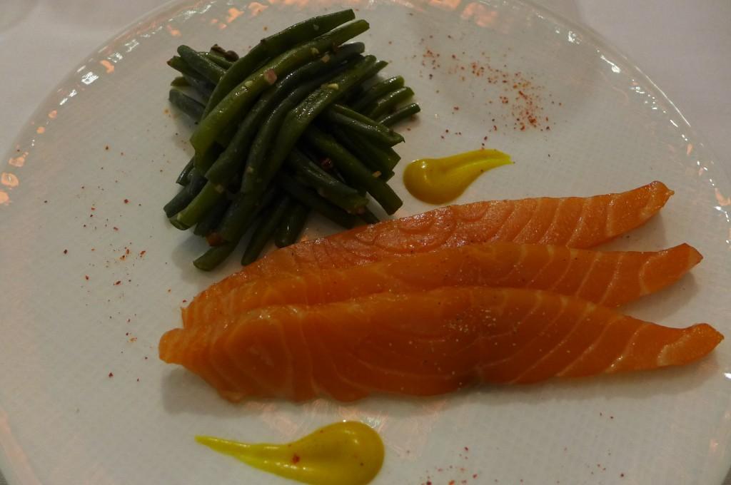 Salade de haricots verts au saumon mariné © GP