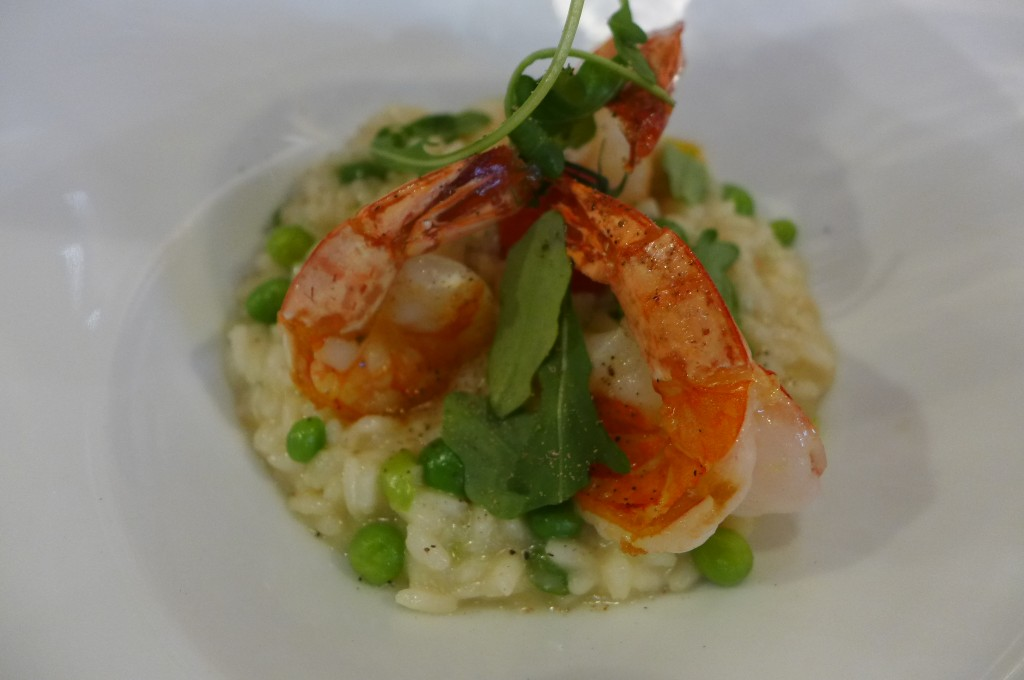 Risotto, petits pois et gamberi © GP