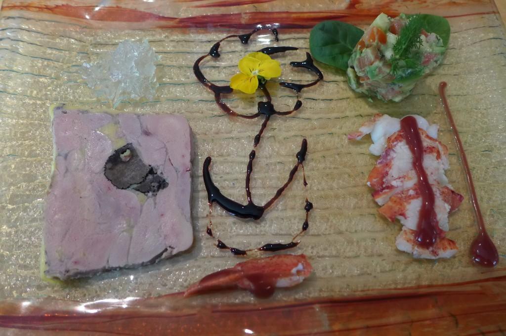 Foie gras truffé et homard © GP
