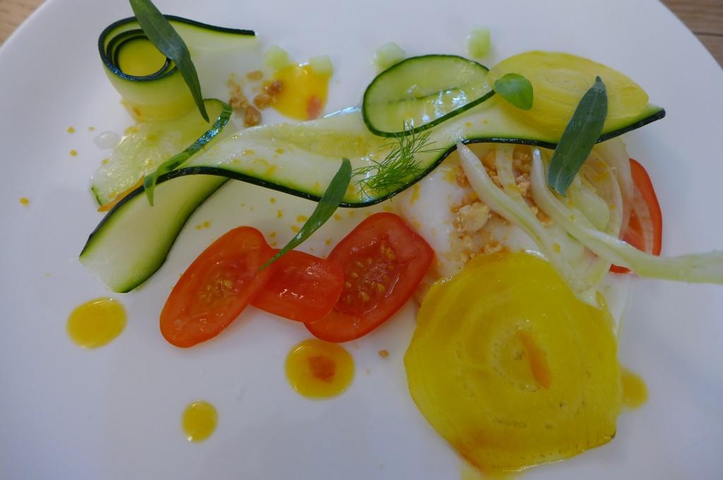 Oeuf à basse température, légumes croquants © GP