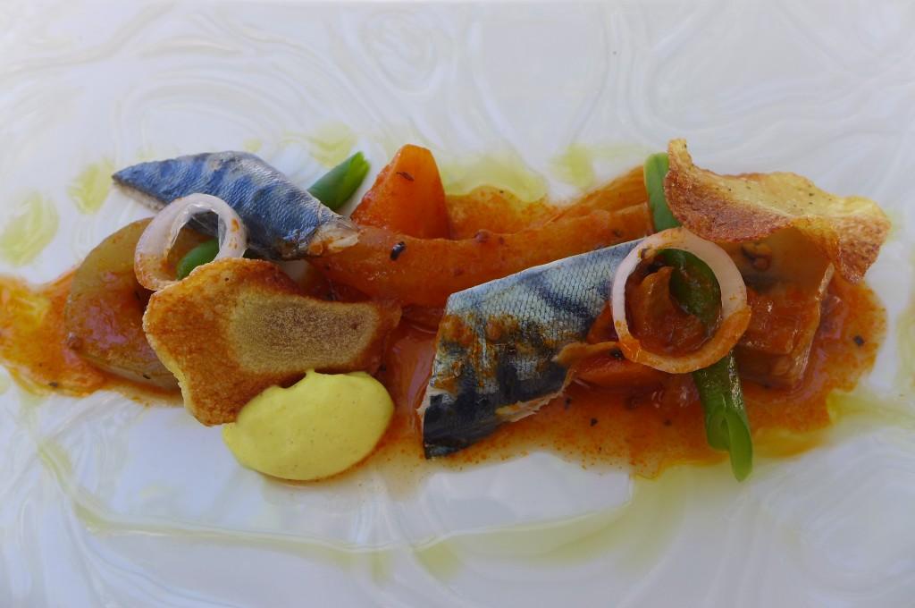 Maquereau et grecque de légumes © GP