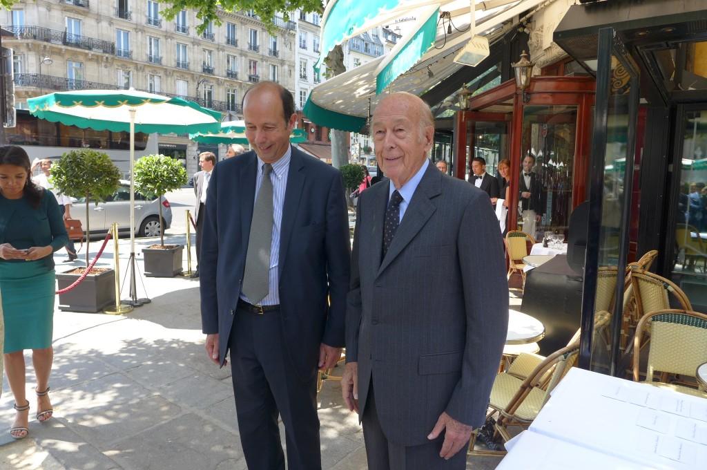VGE et son fils Louis ©GP