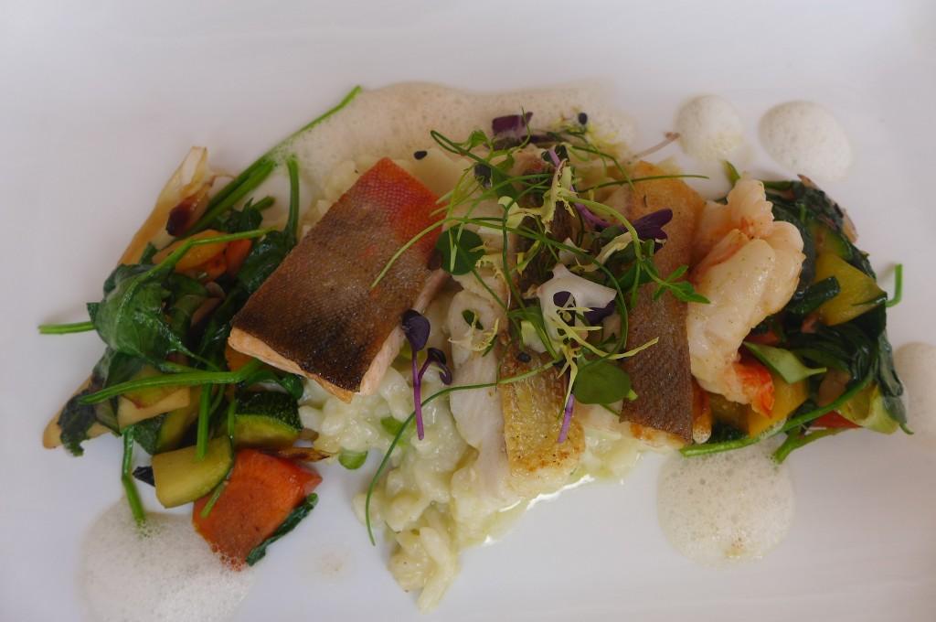 Variation de poissons et risotto © GP