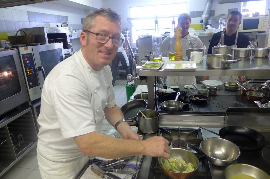 Laurent Cesne en cuisine © GP
