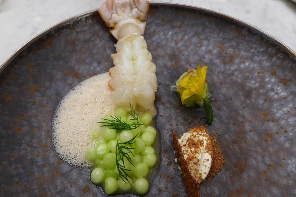 Belles langoustines et concombre © GP