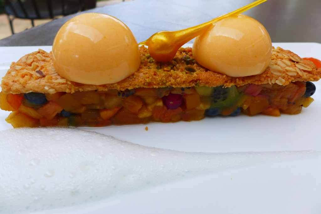 Crumble d'avoine, sorbet abricot © GP