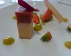 Foie gras confit à la gelée de fraise et rhubarbe © GP
