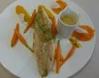 Omble chevalier aux carottes au miel © GP
