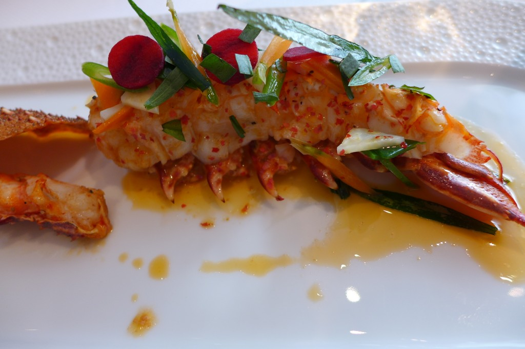 Langouste rose sauce coraline © GP